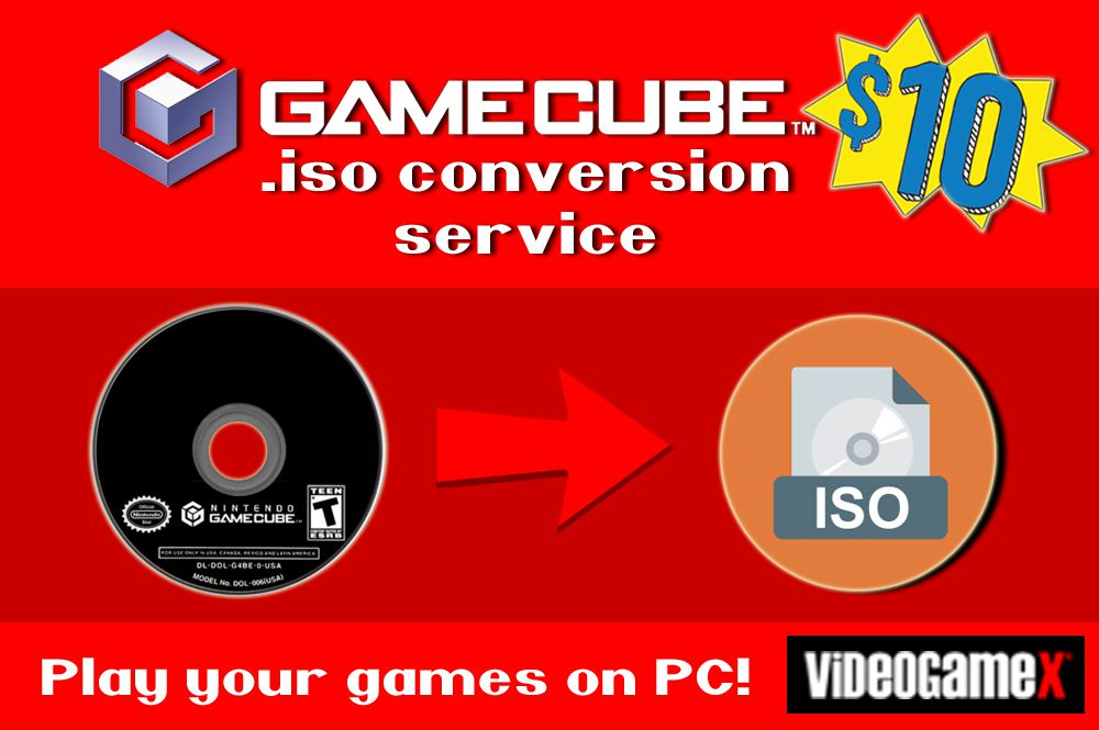 Gamecube Disc to  ISO (Service)