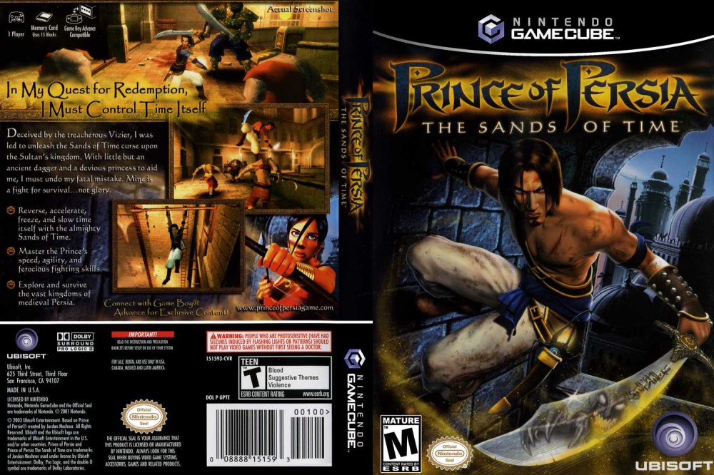 Prince Of Persia The Sands Of Time Gamecube Videogamex