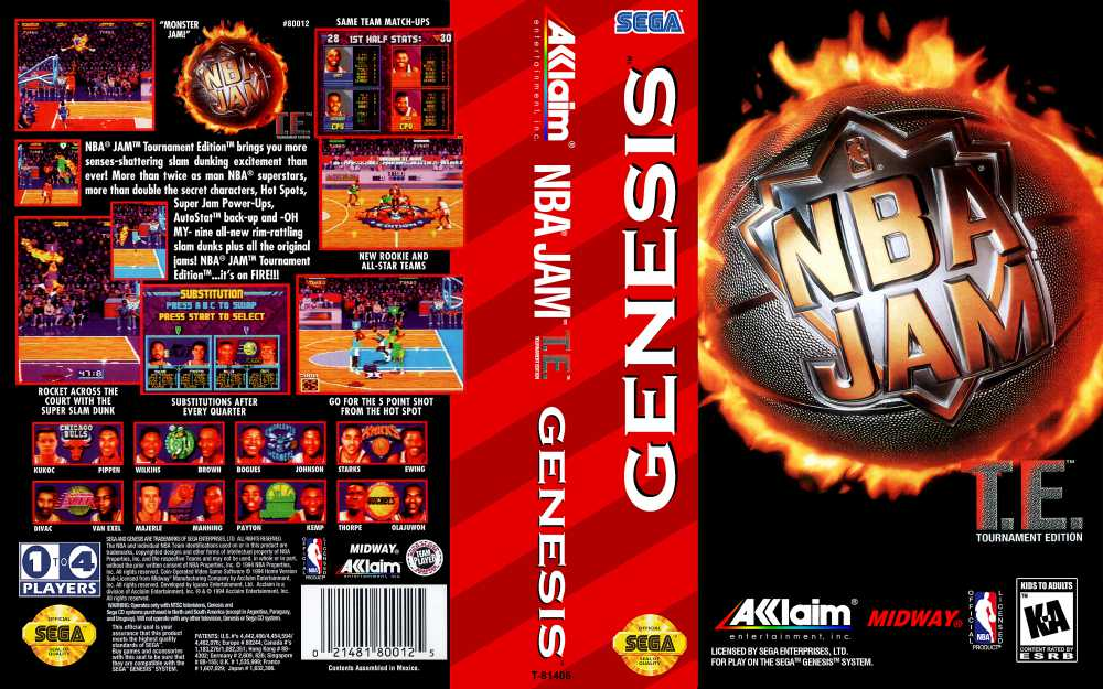 Nba Jam Tournament Edition Sega Genesis Videogamex