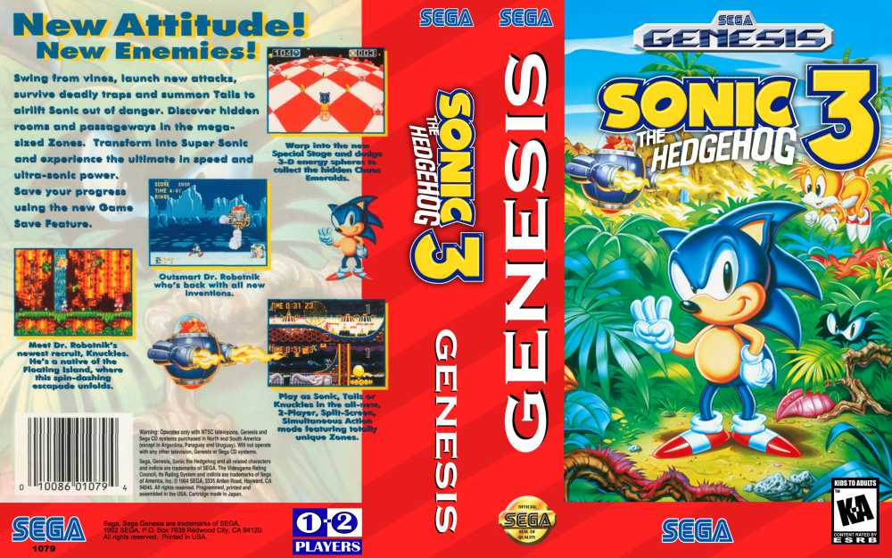 Sonic The Hedgehog 3 Sega Genesis Videogamex