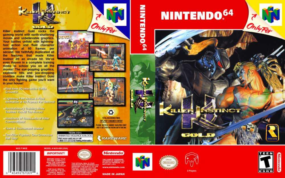Killer Instinct Gold Nintendo 64 Videogamex