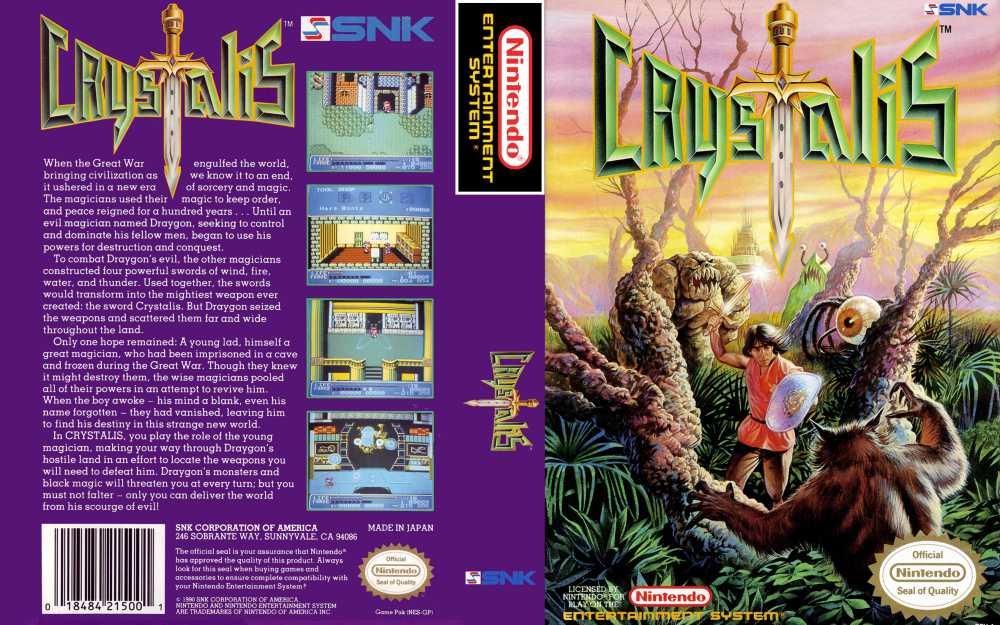 Crystalis Nintendo Nes Videogamex