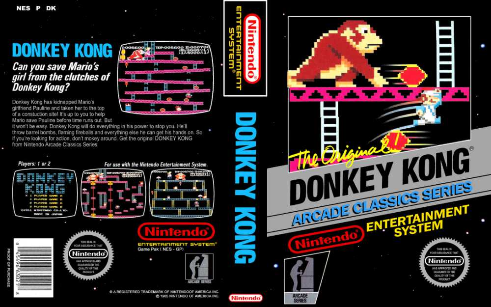 donkey kong nintendo nes videogamex. Black Bedroom Furniture Sets. Home Design Ideas