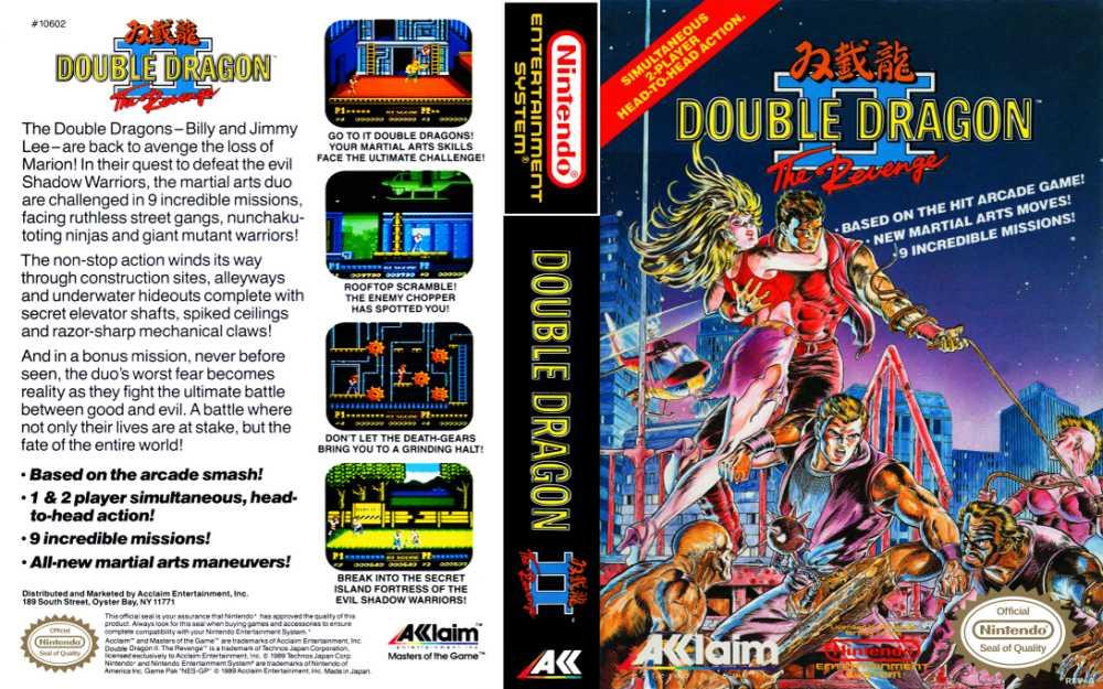 double dragon nes box