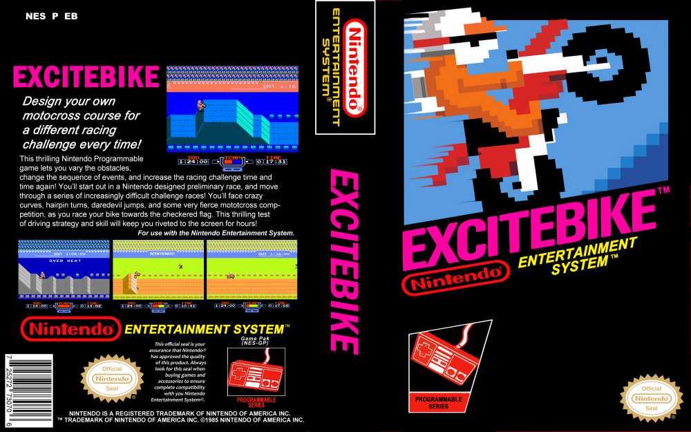 Excitebike Nintendo Nes Videogamex