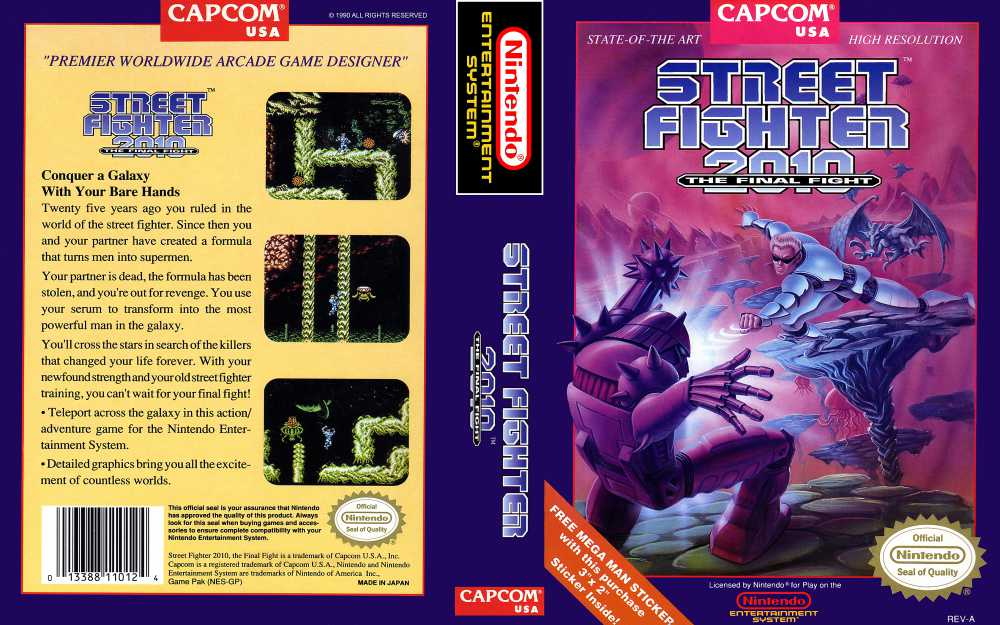 Street Fighter 2010 The Final Fight Nintendo Nes Videogamex