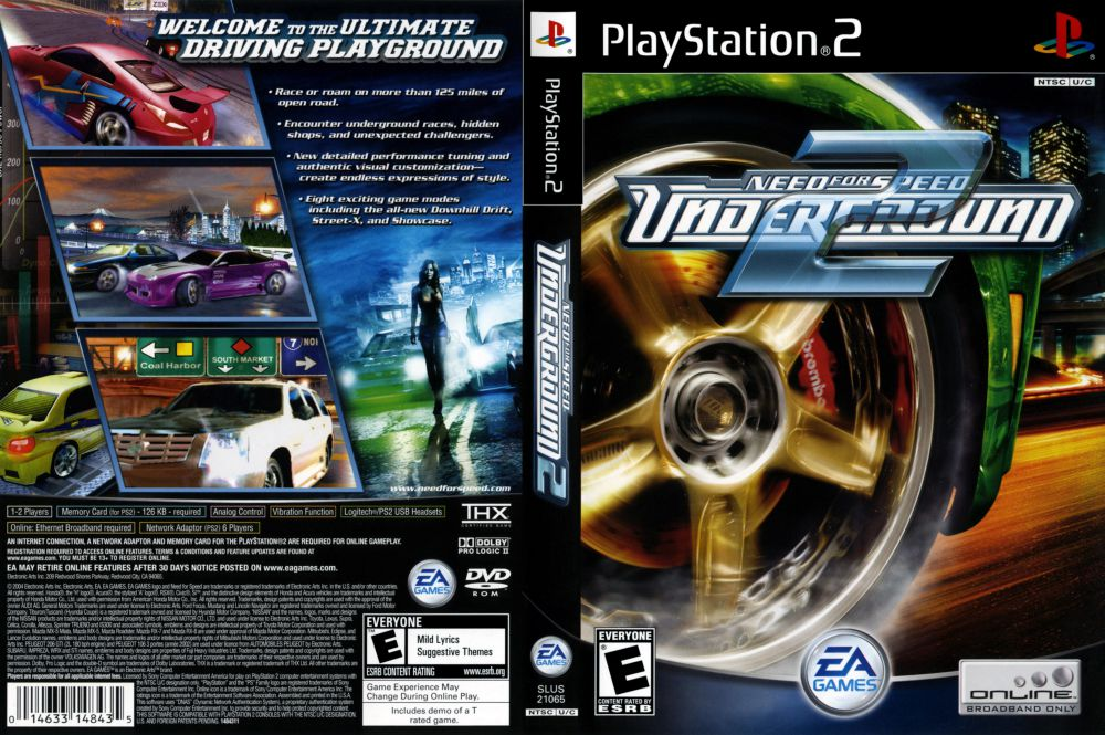 need for speed underground 2 playstation 2 videogamex. Black Bedroom Furniture Sets. Home Design Ideas
