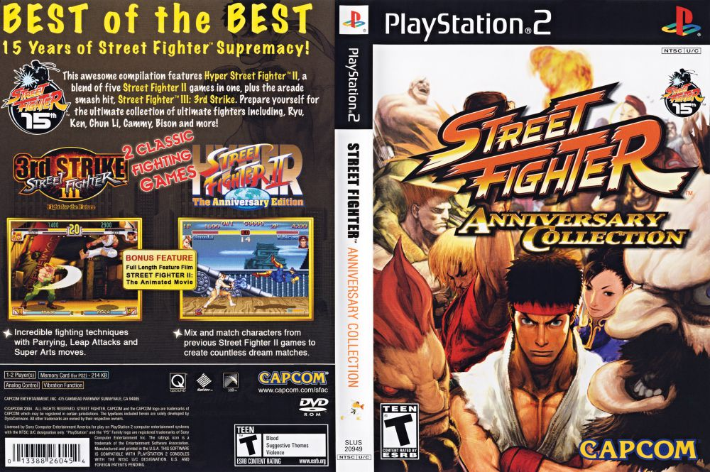 Street Fighter Anniversary Collection Playstation 2 Videogamex