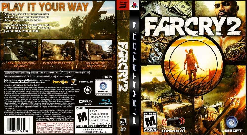 Far Cry 2 Playstation 3 Videogamex