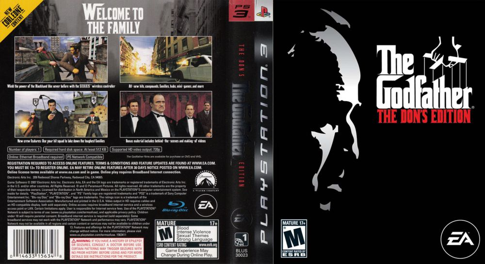 The Godfather: The Don's Edition-cover ps3