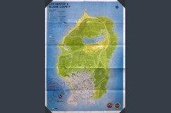 Grand Theft Auto V Poster / Map