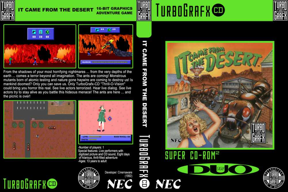It Came From The Desert Cd Rom2 Turbografx 16 Videogamex