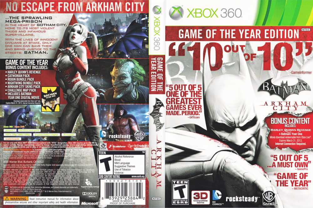Amazon.com: Batman: Arkham City - Game of the Year Edition ...