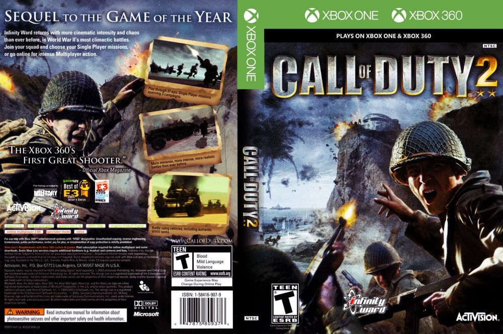 Call of Duty 2 - XBOX 360 | VideoGameX