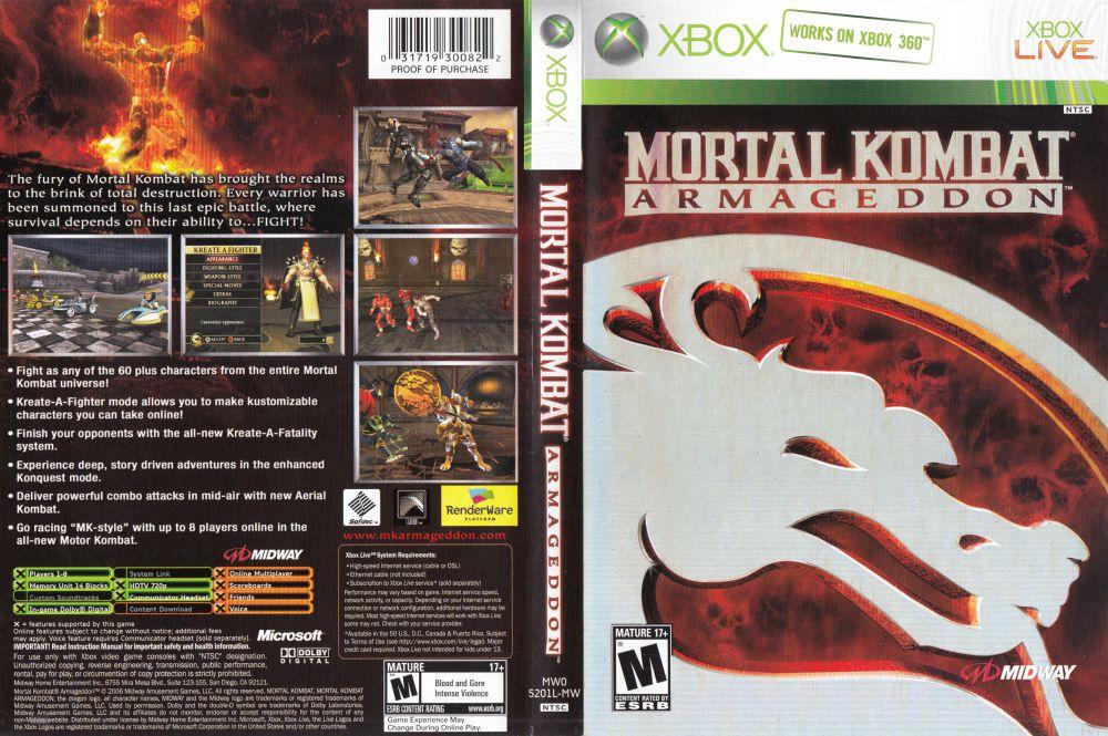 MORTAL KOMBAT ARMAGEDDON - XBOX 360 - The Pirate Jogos Torrent
